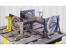 Universal Flange and Pipe Fixture holds standard ASME / ANSI / DIN Flanges