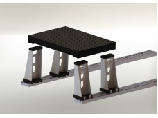 Leg For Modular Form Tables with Built-in Track Rollers
