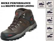 BICKZ PERFORMANCE 2-2 BROWN MESH LINING